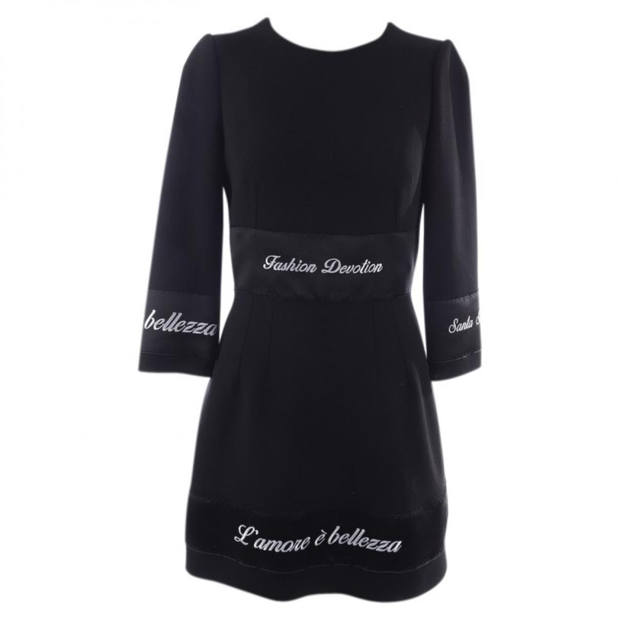 Dolce & Gabbana \N Black Wool dress for Women 32 FR