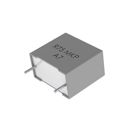 KEMET 100nF Polypropylene Capacitor PP 1.25 kV dc, 600 V ac ±5% Tolerance Through Hole R75 Series (5)