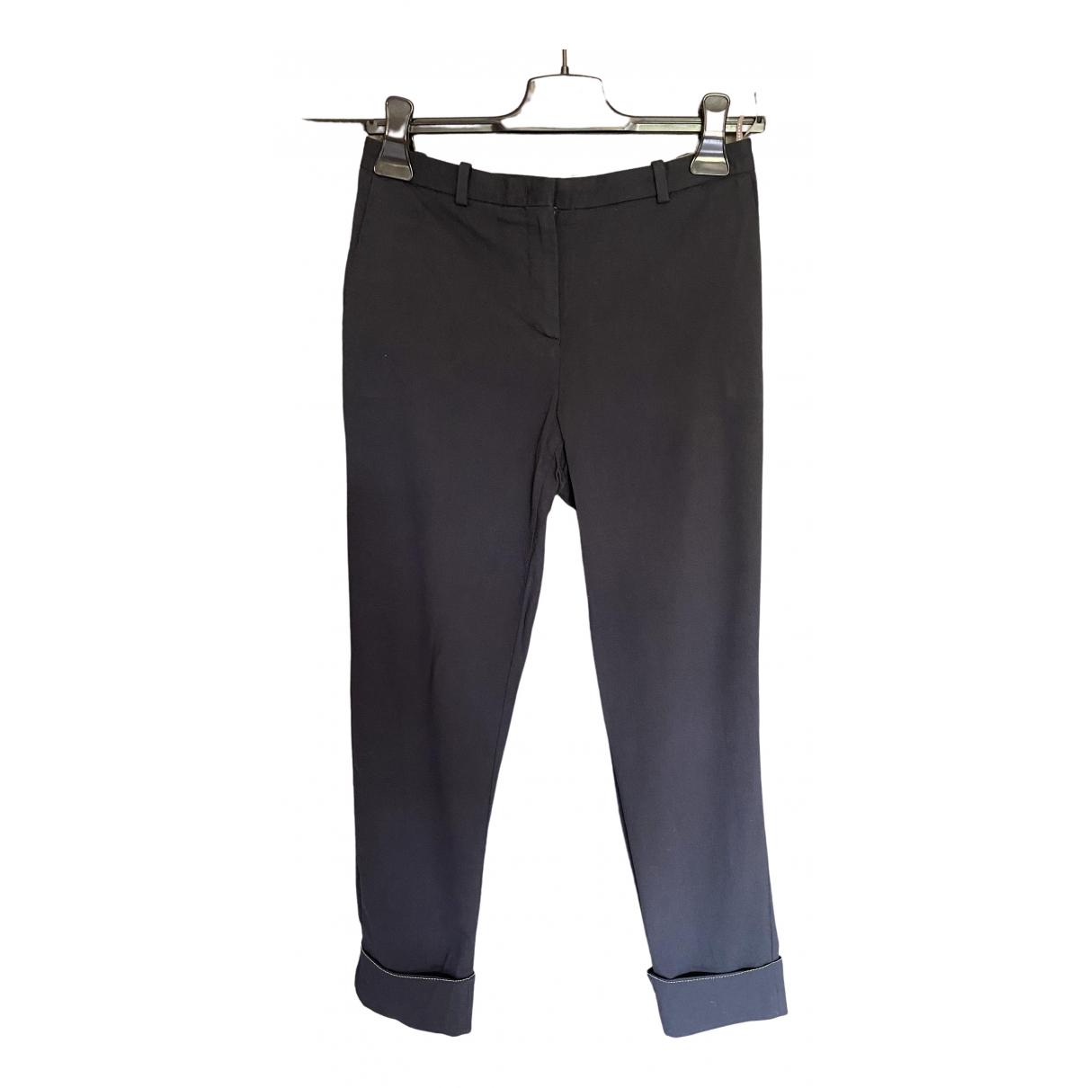 Fabiana Filippi \N Blue Wool Trousers for Women 40 IT