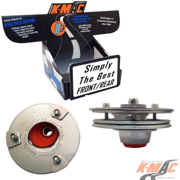K-Mac Stage 1 Front Camber & Caster Strut Mount Kit BMW 5/7/M5/M6 Series 94-10