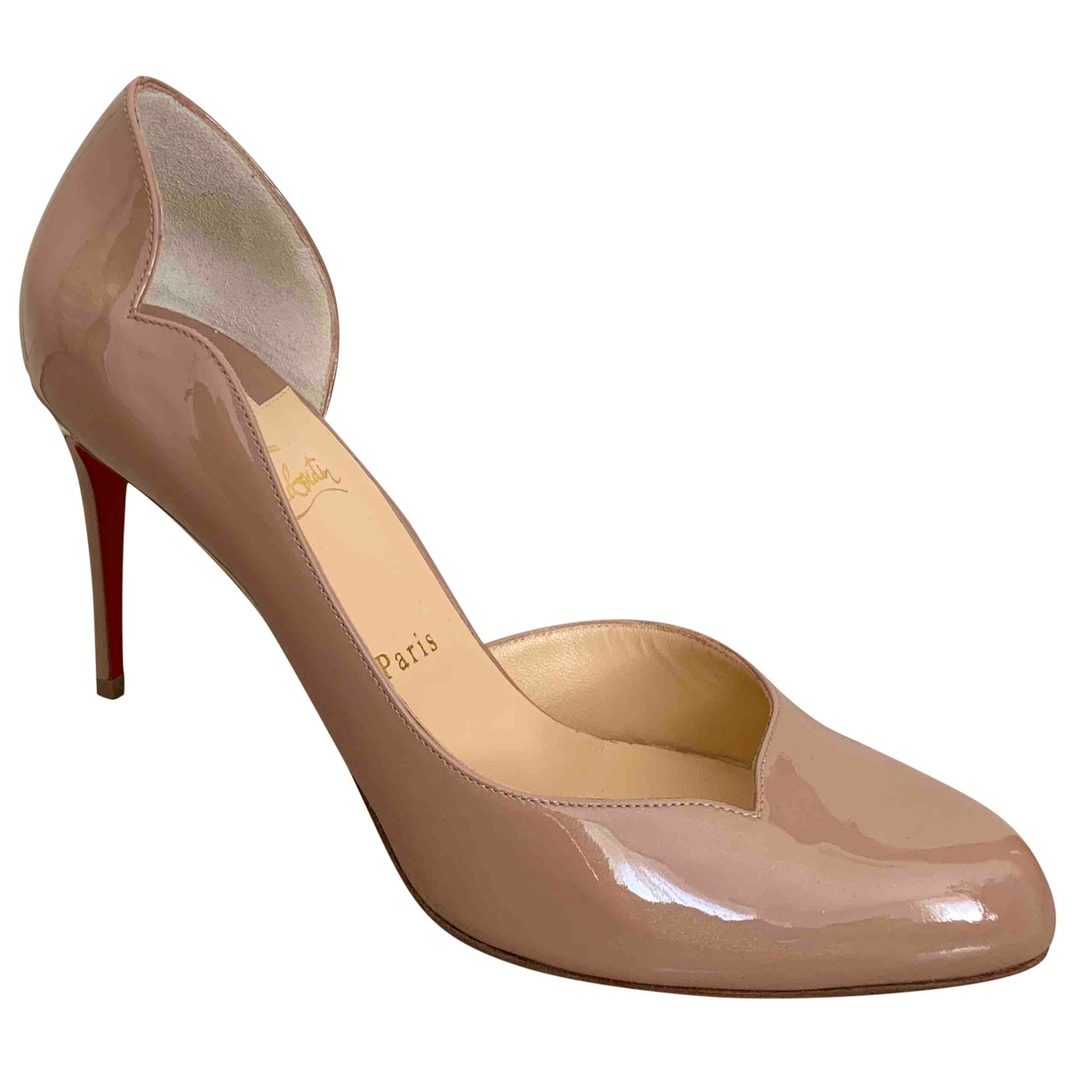 Christian Louboutin \N Beige Patent leather Heels for Women 41 EU