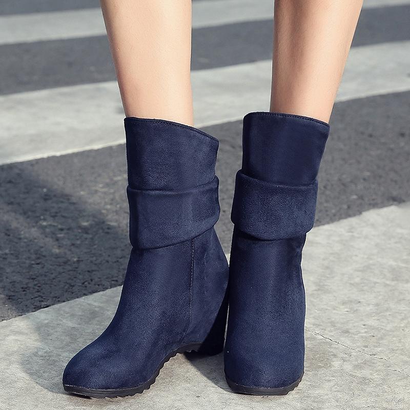Ericdress Suede Elevator Heel Ankle Boots