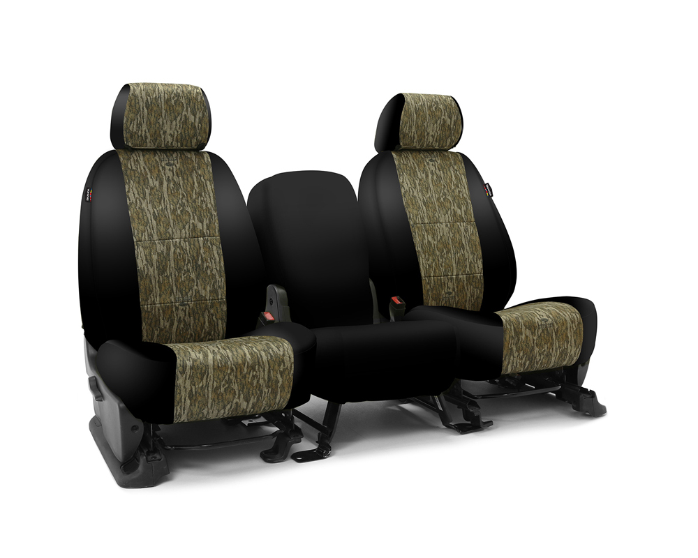 Coverking CSC2MO06CH9656 Skanda Custom Seat Covers 1 Row Neosupreme Mossy Oak Bottomland with Black Sides Front Chevrolet Silverado 2500 | 3500 HD 201