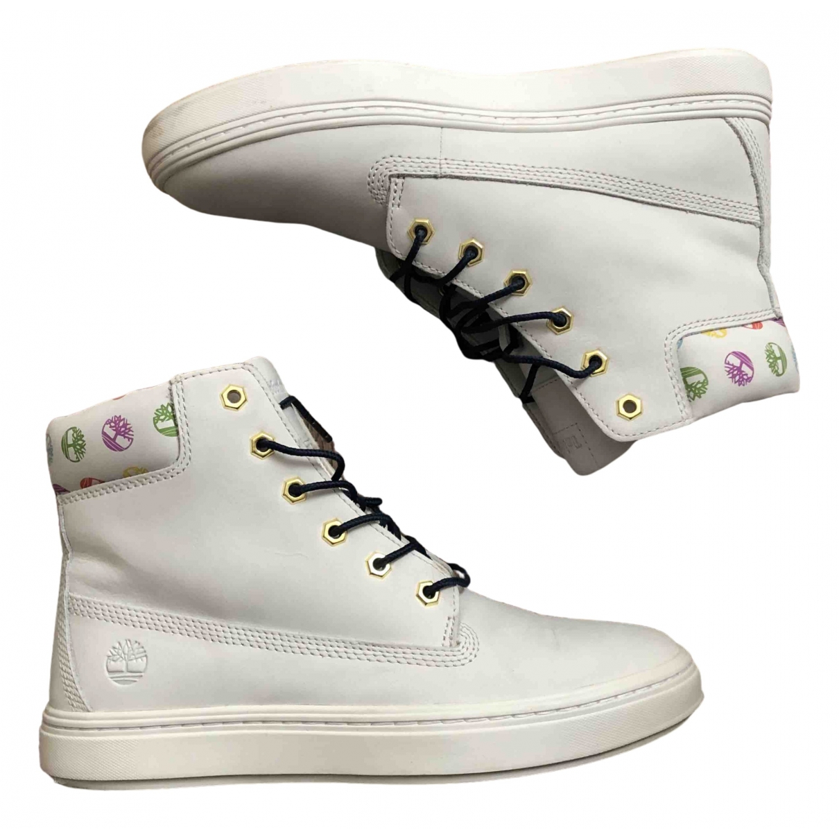 Timberland \N White Leather Trainers for Women 41.5 EU