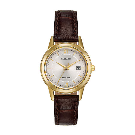 Citizen Corso Womens Brown Leather Strap Watch-Fe1082-05a, One Size , No Color Family