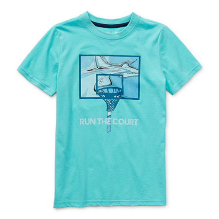 Xersion Little & Big Boys Crew Neck Short Sleeve Graphic T-Shirt, Xx-small (4-5) , Blue
