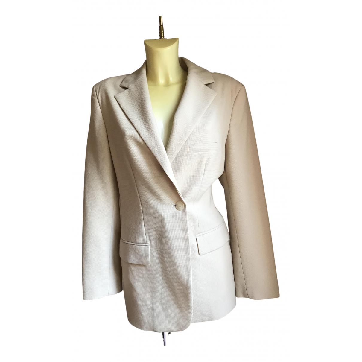 Jacquemus La Riviera Beige Wool jacket for Women 40 FR