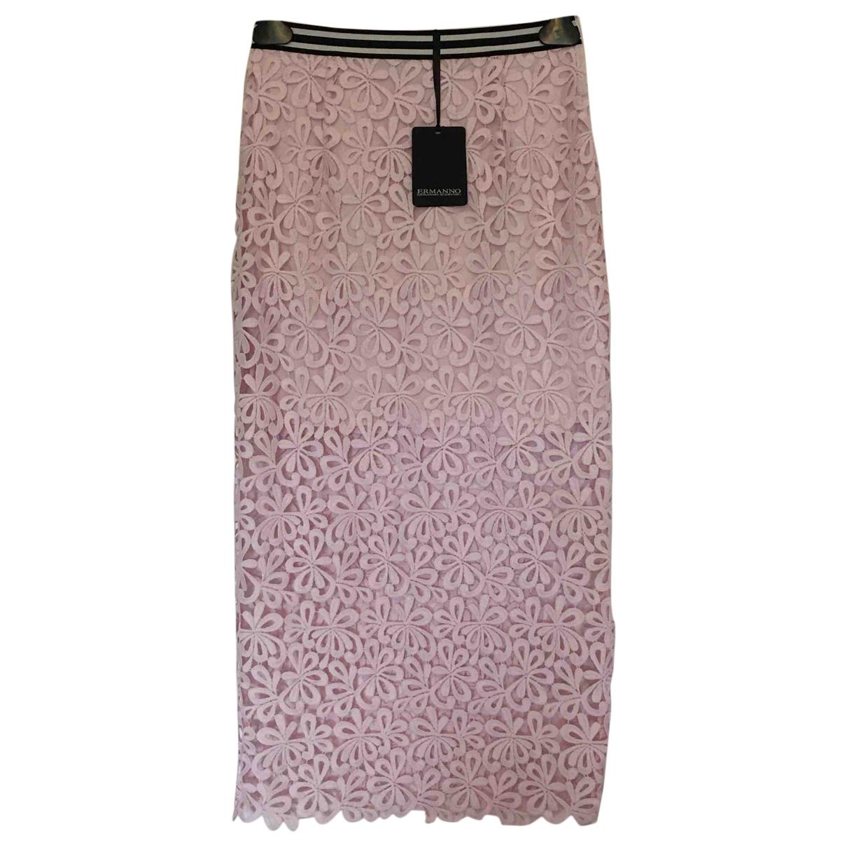 Ermanno Scervino \N Pink Cotton skirt for Women 40 FR