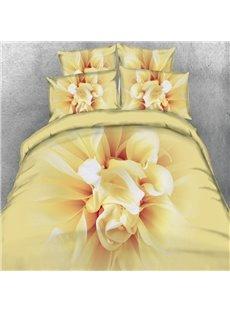 Blooming 3D Flower Printed 5-Piece Comforter Sets
