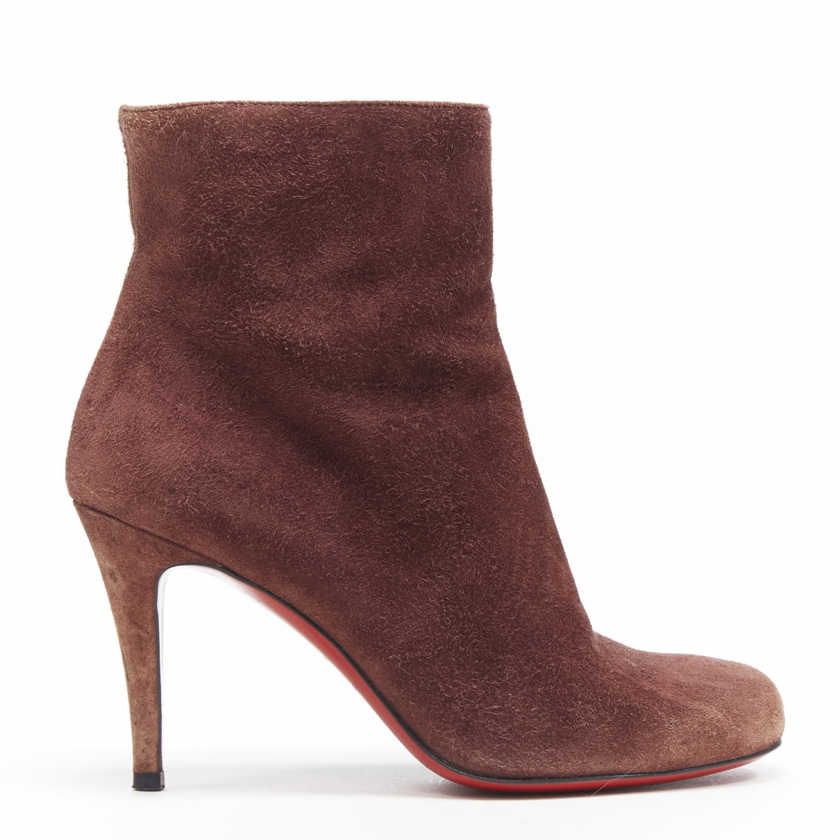 Christian Louboutin \N Brown Suede Ankle boots for Women 36 EU