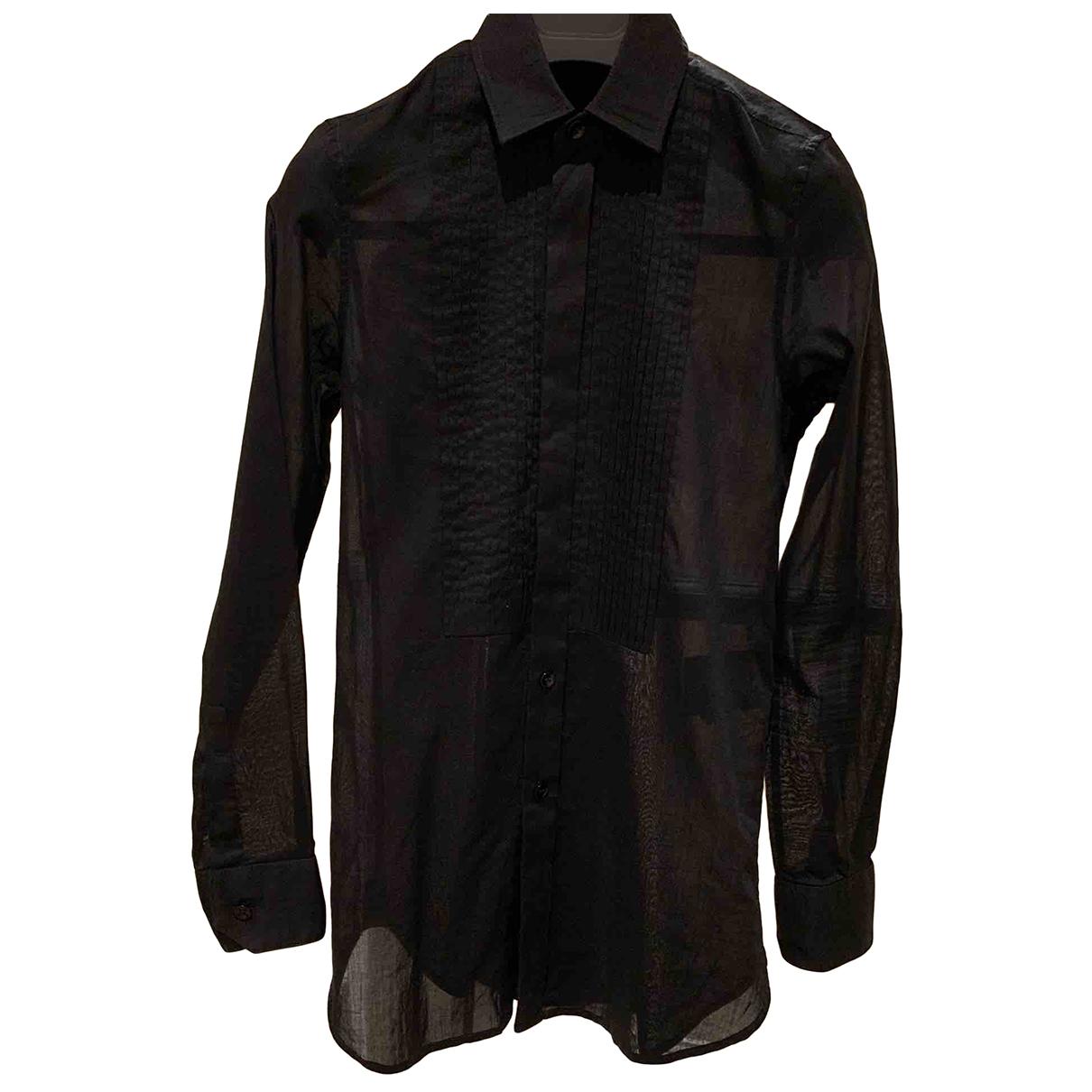 Saint Laurent \N Black Cotton  top for Women 34 FR