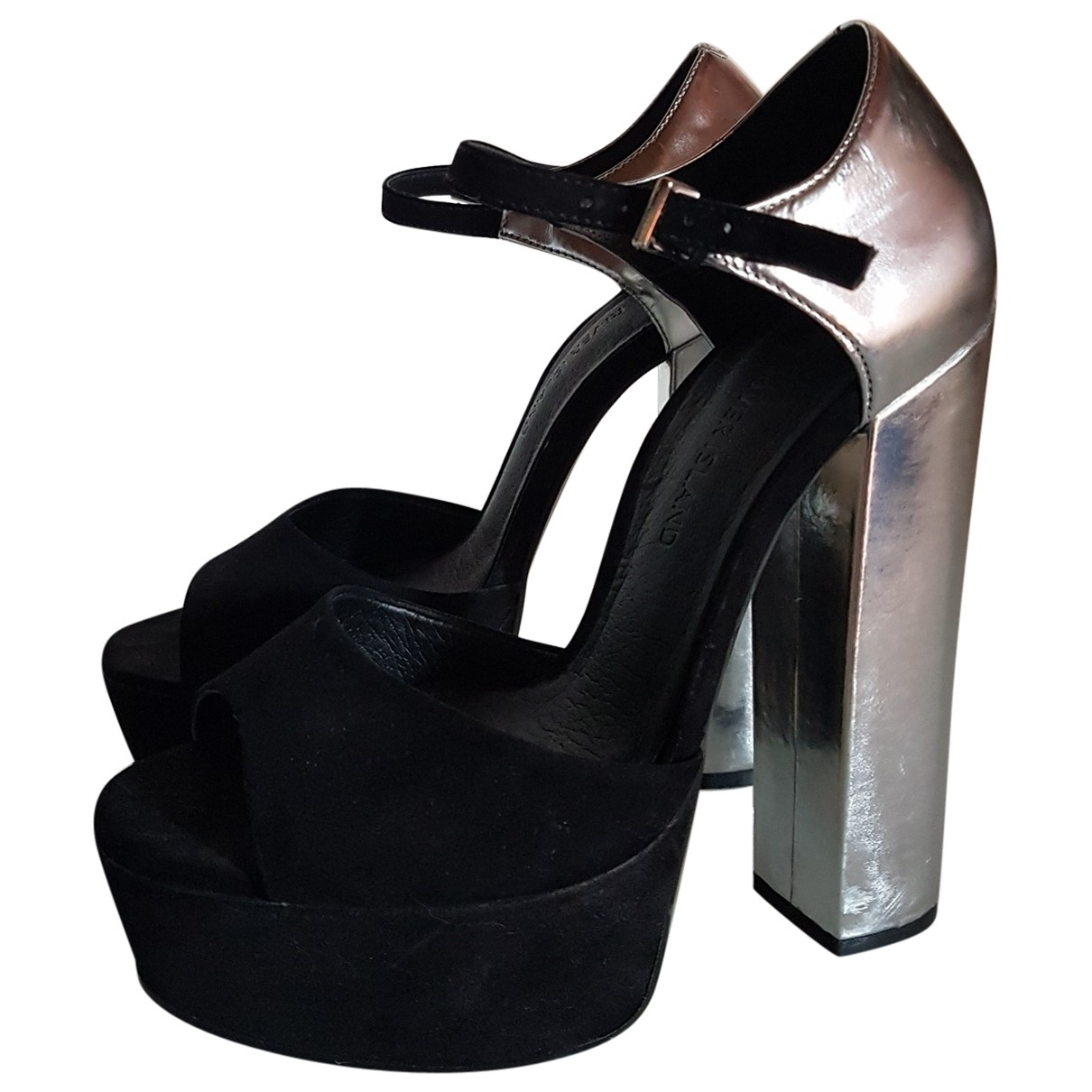 River Island \N Silver Suede Heels for Women 39 EU