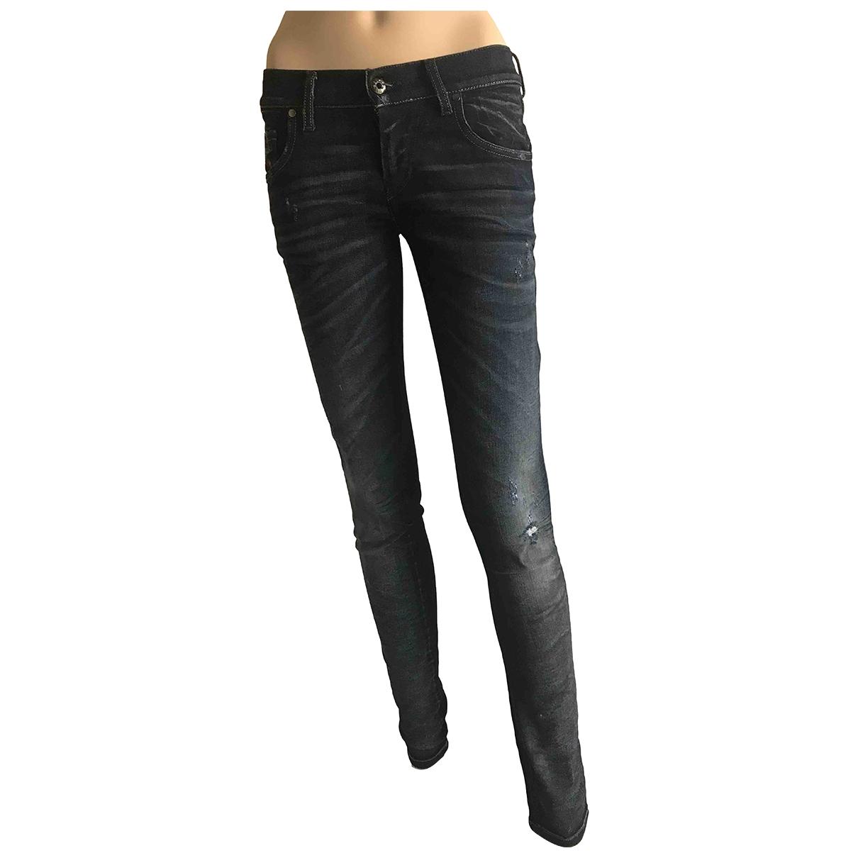 Diesel - Jean   pour femme en coton - elasthane - bleu