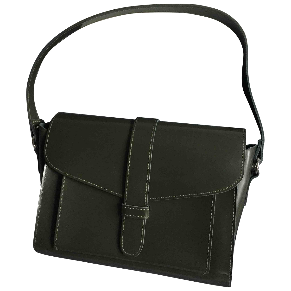 Marni \N Khaki Patent leather handbag for Women \N
