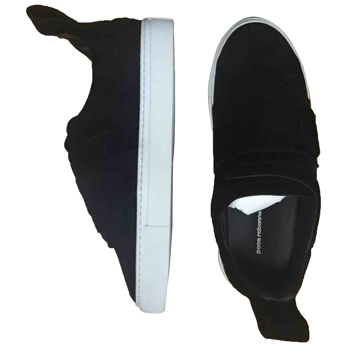 Paco Rabanne \N Black Suede Trainers for Women 38 EU