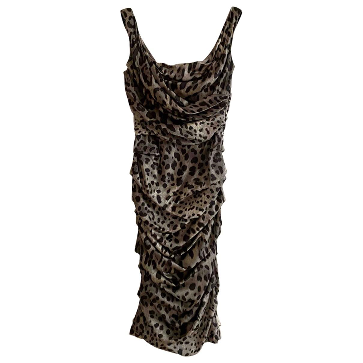 Dolce & Gabbana \N Grey Silk dress for Women 42 IT