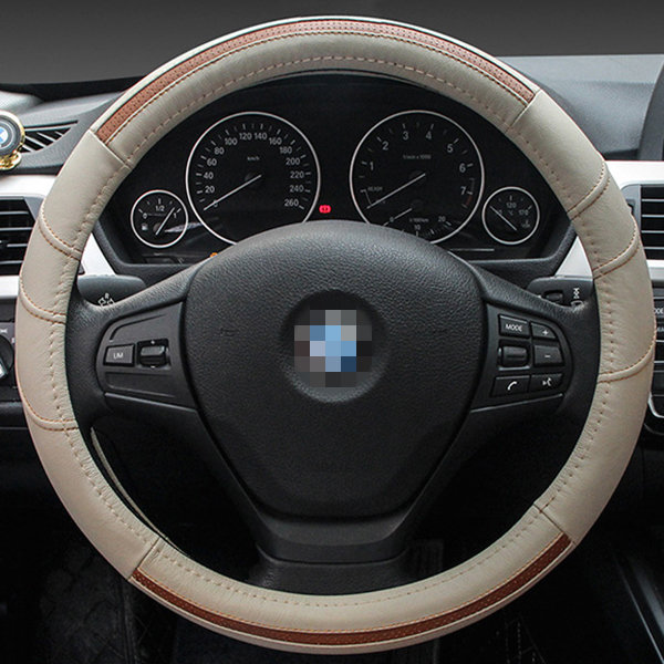 Universal Leather Steering Wheel Cover for Volkswagen Buick CruzeBreathable Car Accessory