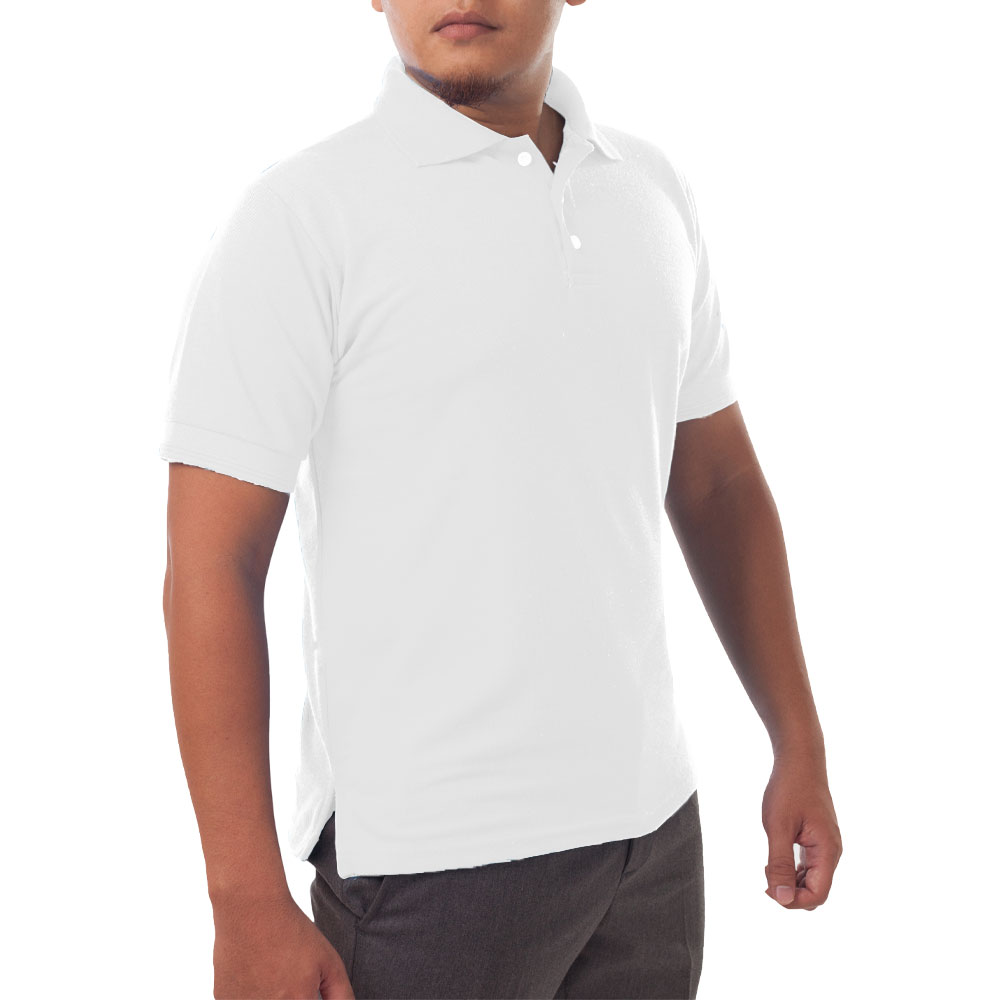 Page & Tuttle Solid Jersey Short Sleeve Polo Golf Shirt White- Mens- Size XXXXL