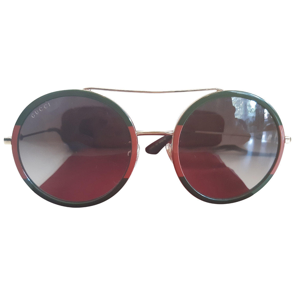 Gucci \N Green Metal Sunglasses for Women \N