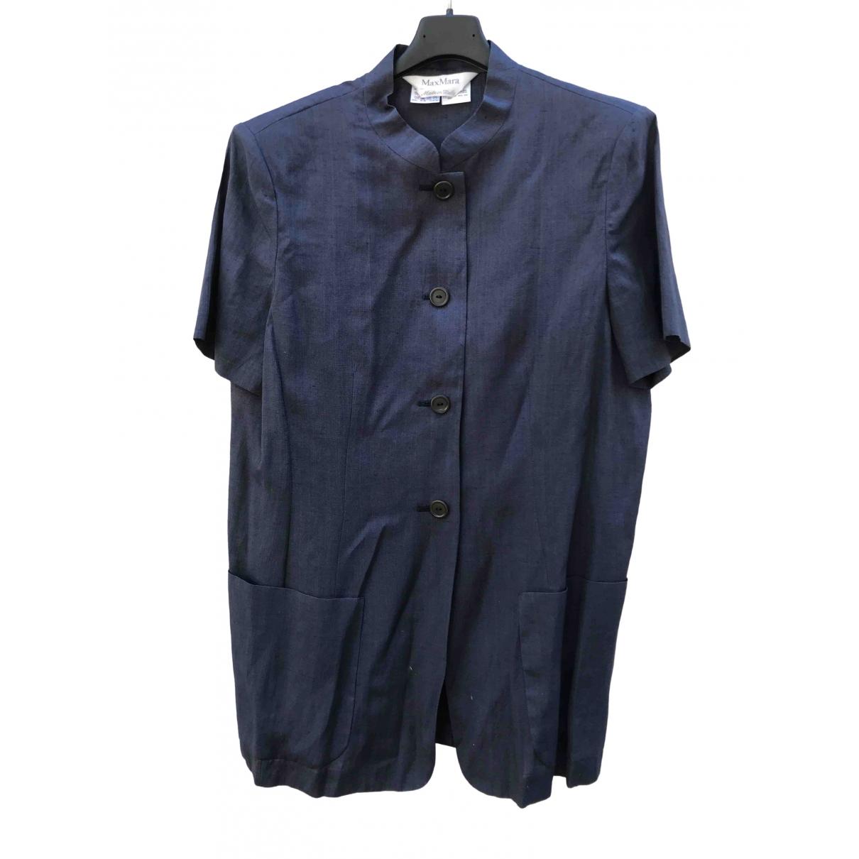 Max Mara \N Blue Linen  top for Women 42 FR