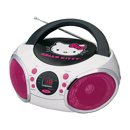 Hello Kitty Portable Stereo CD Boombox with AM/FM Radio Speaker, One Size , Multiple Colors