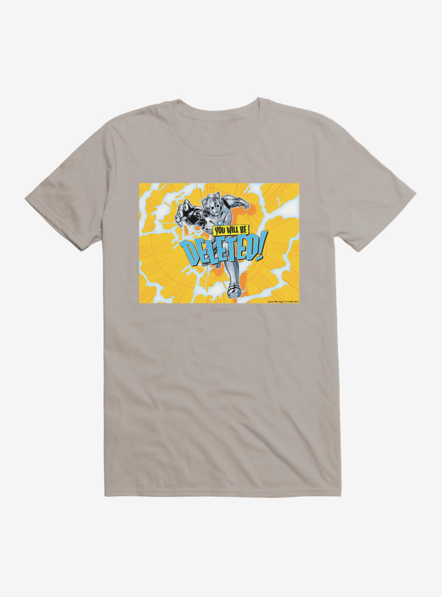 Doctor Who Cybermen Deleted Yellow Cover T-Shirt