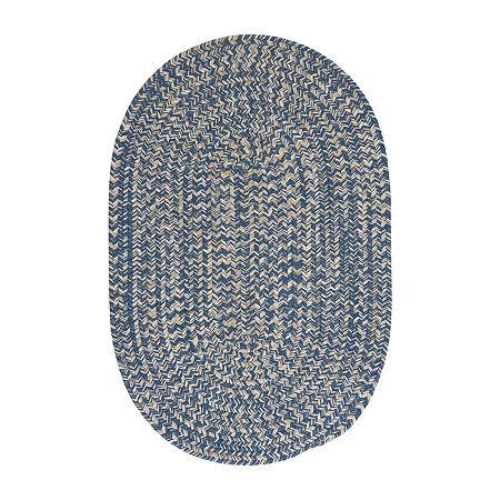 Colonial Mills American Tweed Braided Oval Reversible Indoor Rugs, One Size , Blue