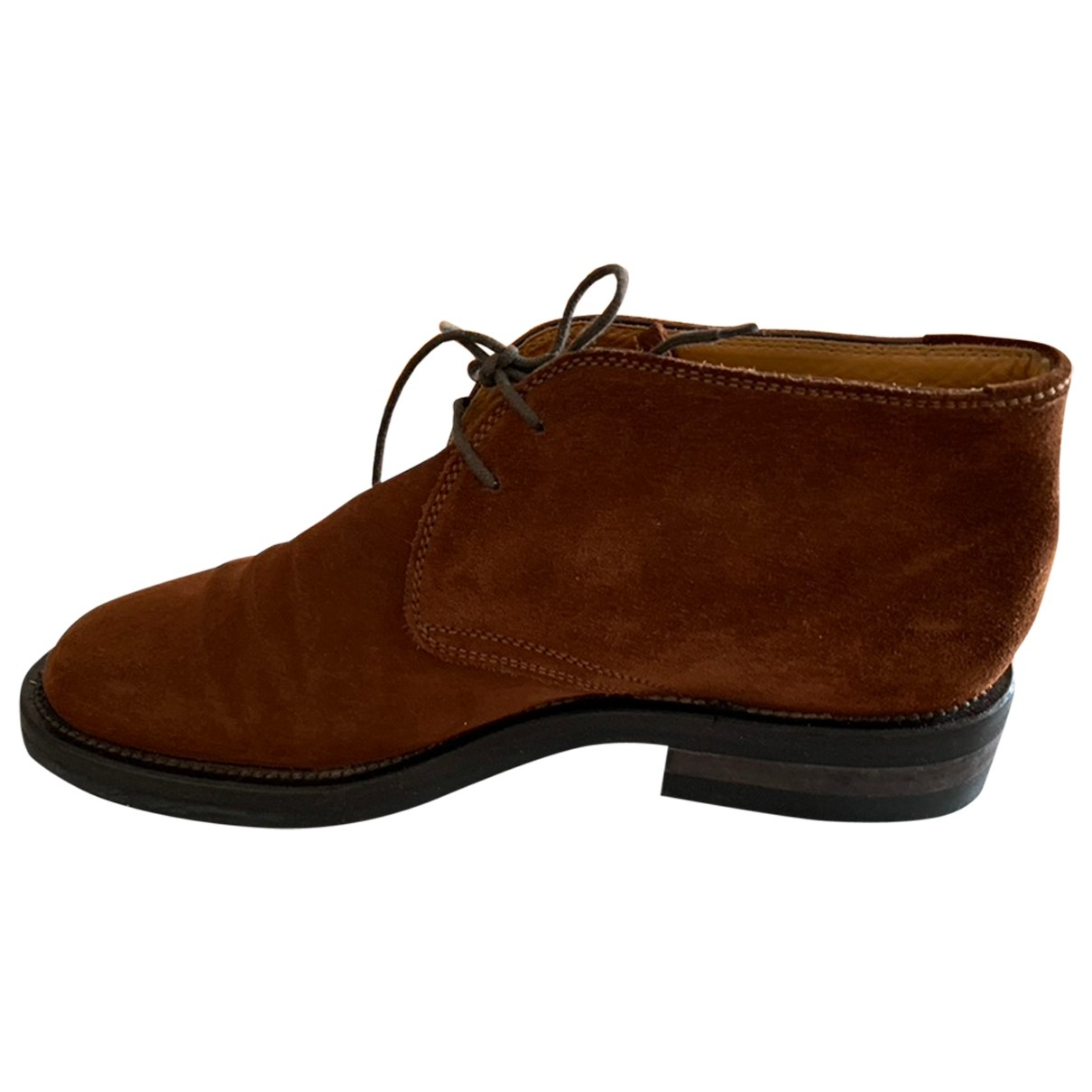 Non Signé / Unsigned \N Brown Suede Boots for Men 40.5 IT
