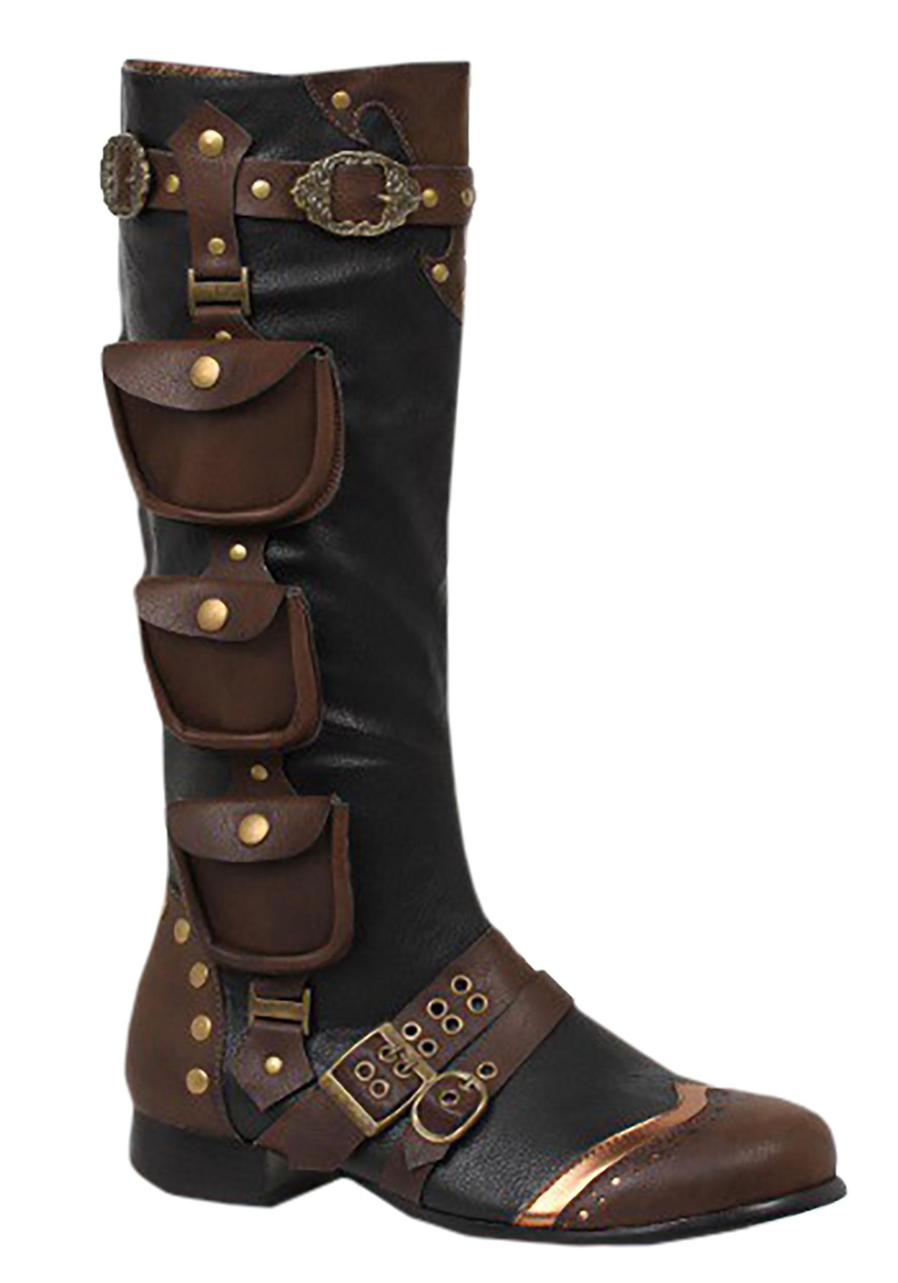 Steampunk Men's Costume Boots