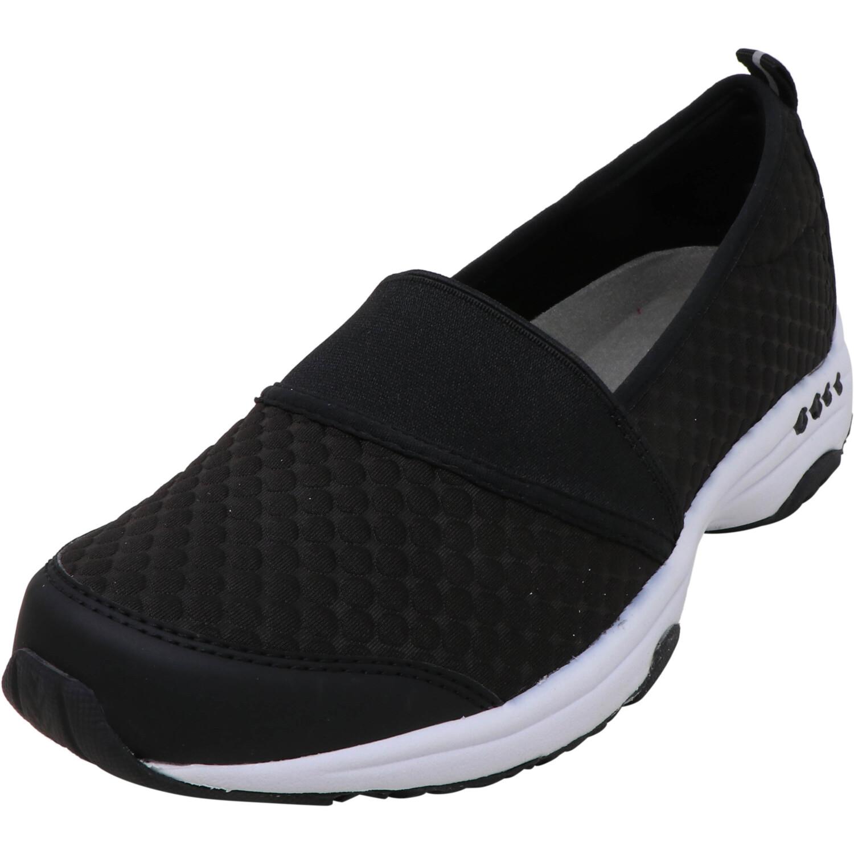 Easy Spirit Women's Twist 13 Black Ankle-High Fabric Slip-On Shoes - 6.5M