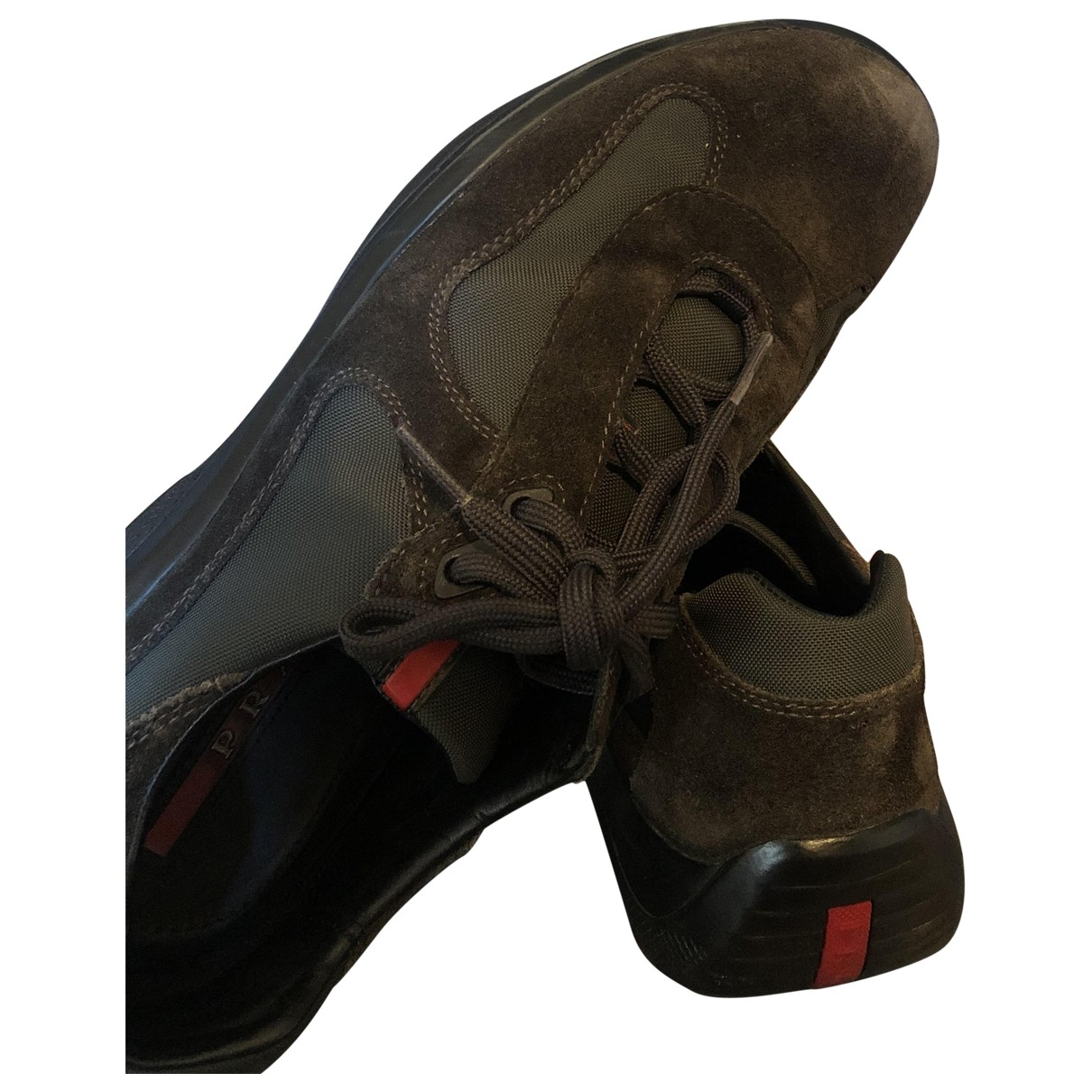 Prada \N Brown Cloth Trainers for Men 41 EU