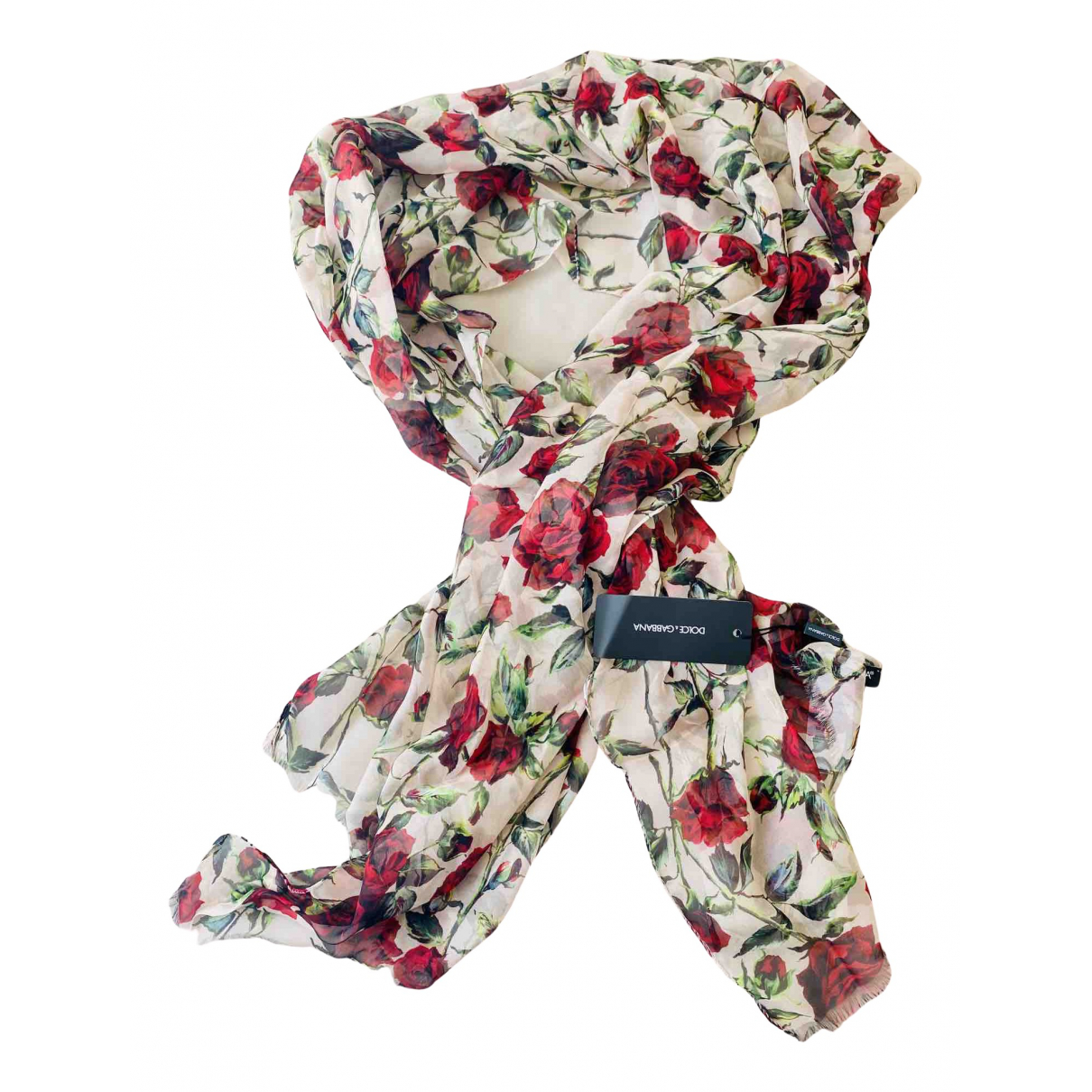 Dolce & Gabbana \N Ecru Silk scarf for Women \N