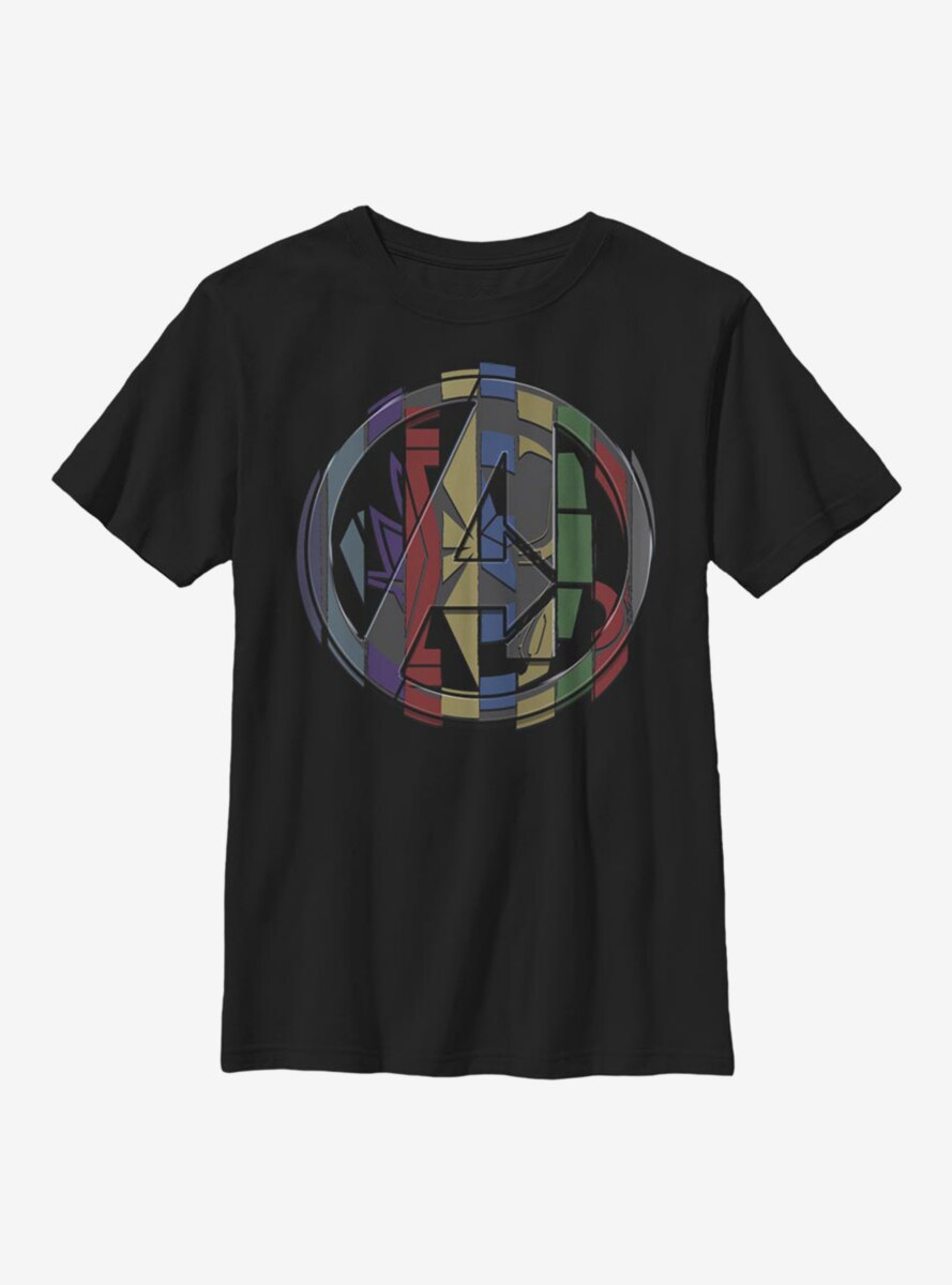 Marvel Avengers Endgame Badge Mashup Youth T-Shirt