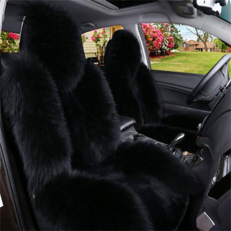 Black Coffee Lambswool Material Warm And Most Comfortable Universal Car Seat Cover