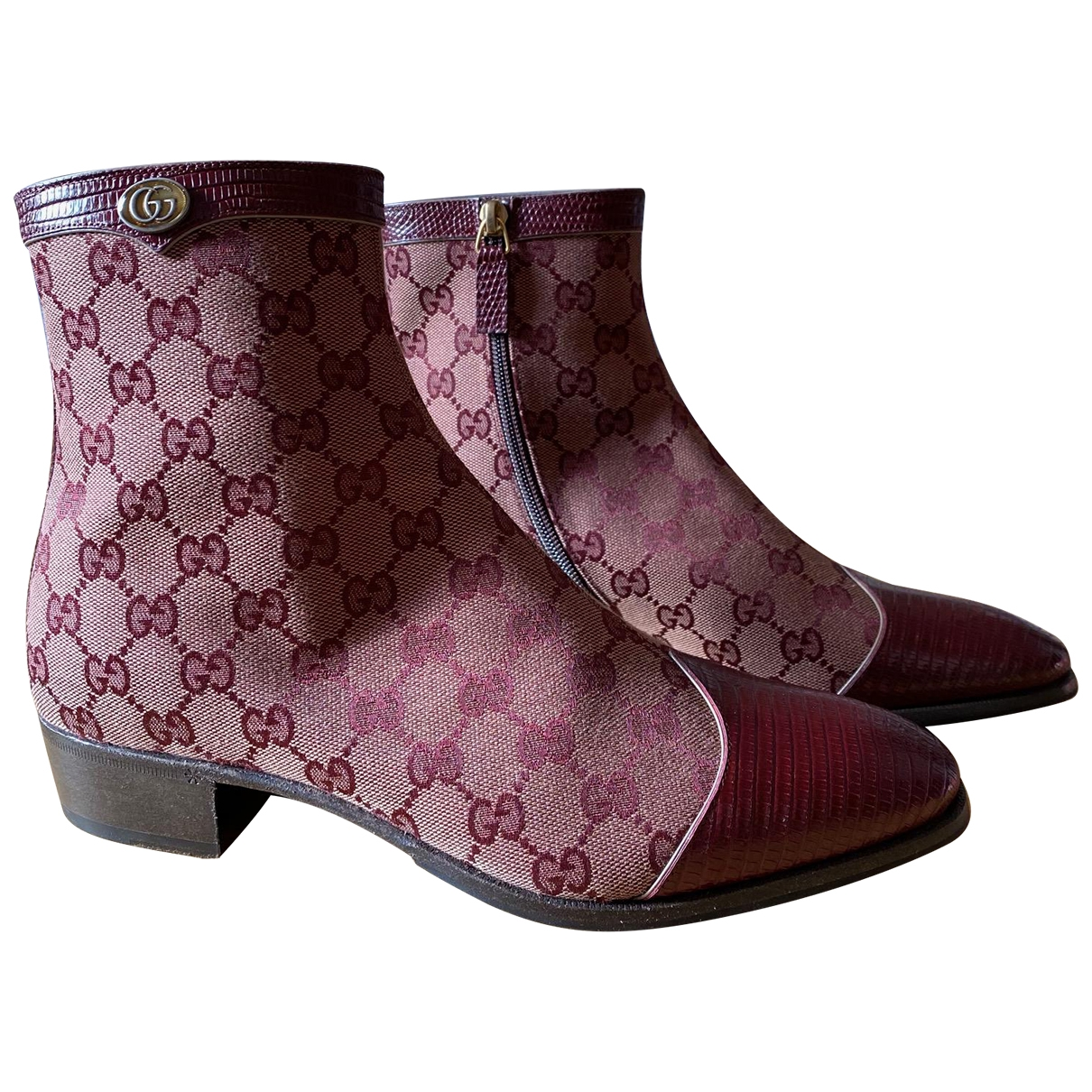 Gucci \N Burgundy Cloth Boots for Men 41 IT