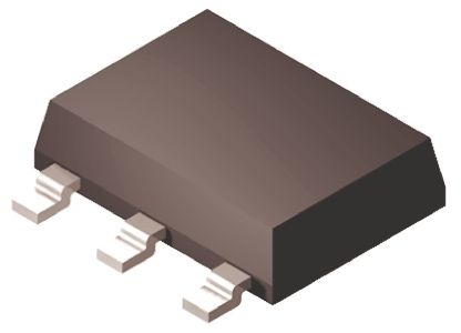 ON Semiconductor ON Semi BSP16T1G PNP Transistor, 100 mA, -300 V dc, 3 + Tab-Pin TO-223 (1000)