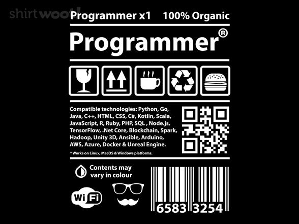Programmer Label T Shirt