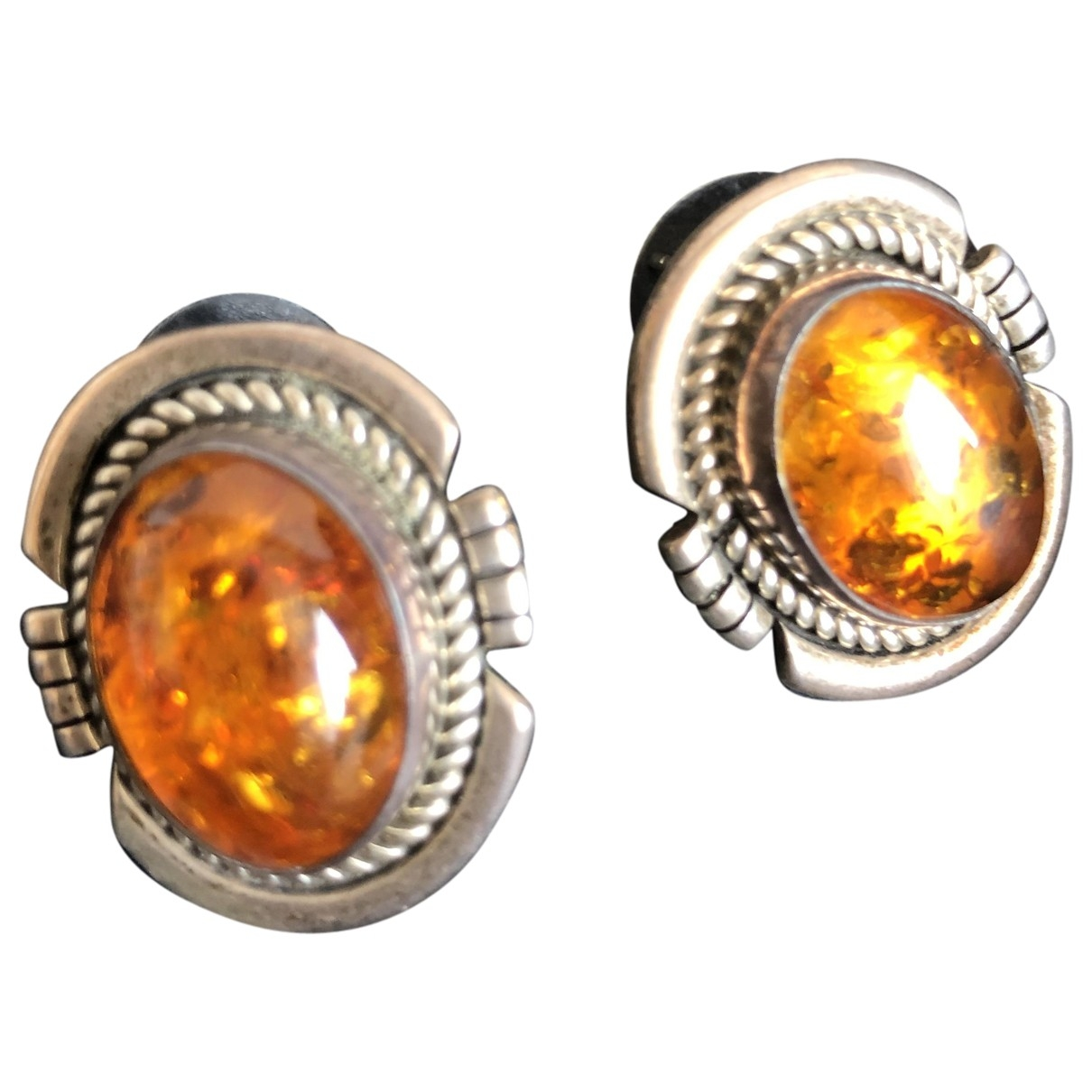 Non Signé / Unsigned \N Silver Steel Earrings for Women \N