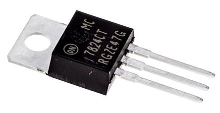 ON Semiconductor , 24 V Linear Voltage Regulator, 1A, 1-Channel, ±4% 3-Pin, TO-220 MC7824CTG (50)