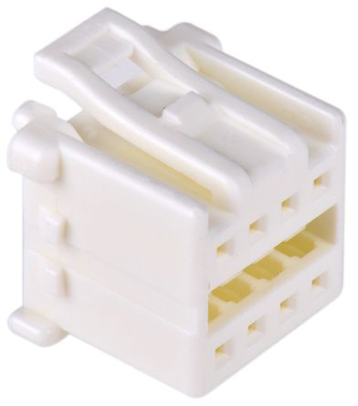 Molex , MicroClasp Female Connector Housing, 2mm Pitch, 8 Way, 2 Row (10)