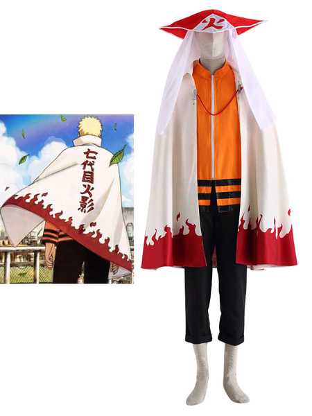 Milanoo Naruto Seventh Hokage Cosplay Costume Halloween