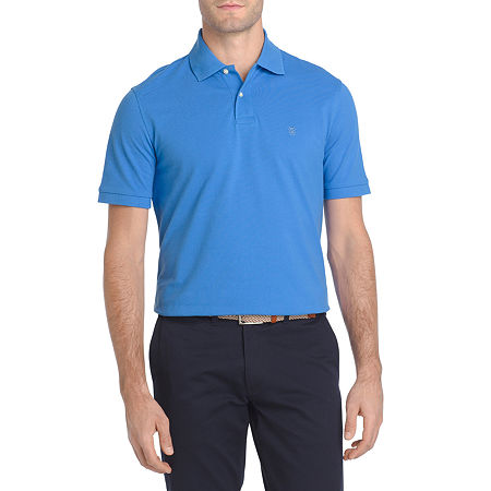 IZOD Big and Tall Mens Short Sleeve Polo Shirt, Large Tall , Blue