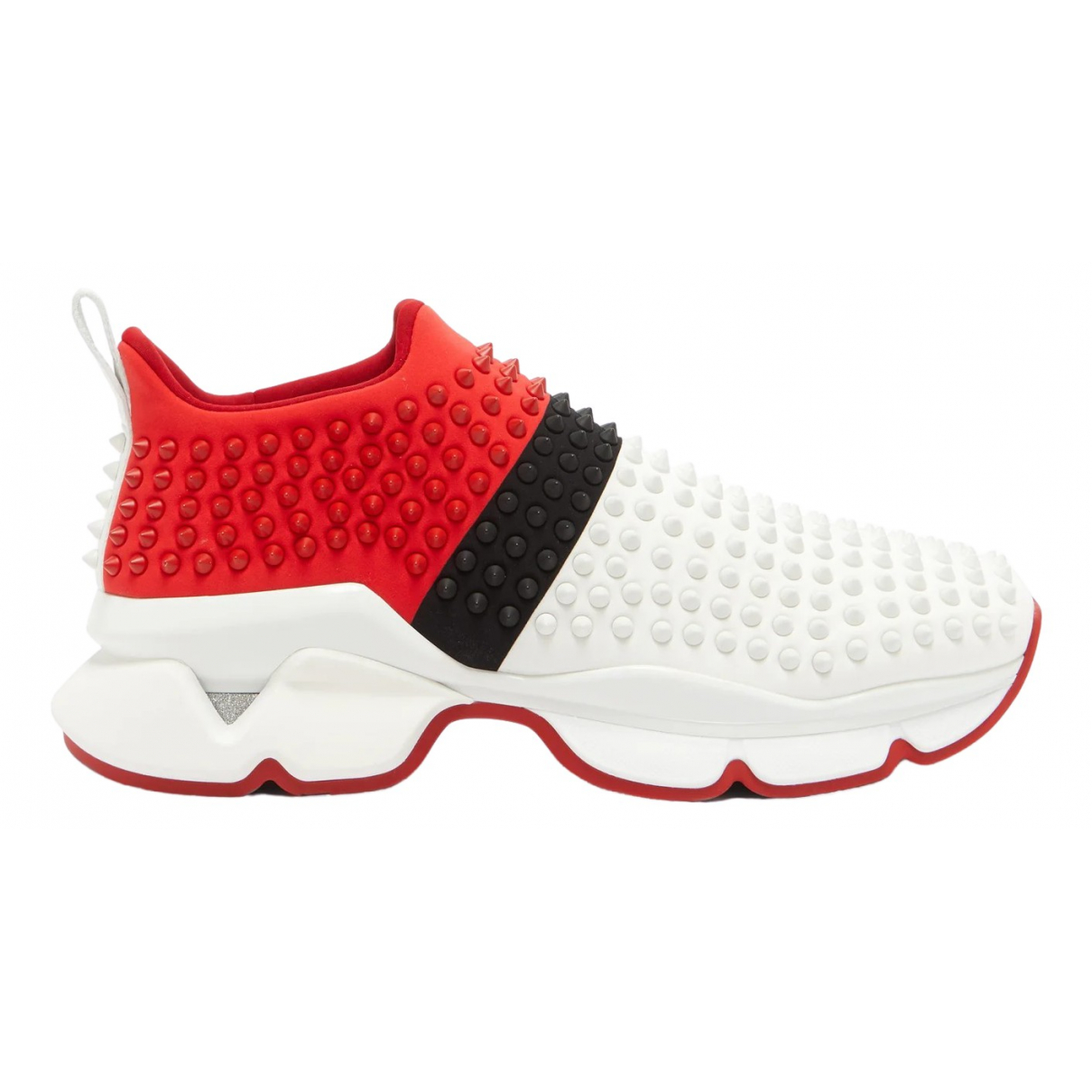 Christian Louboutin Spike Sock Red Leather Trainers for Men 40 EU