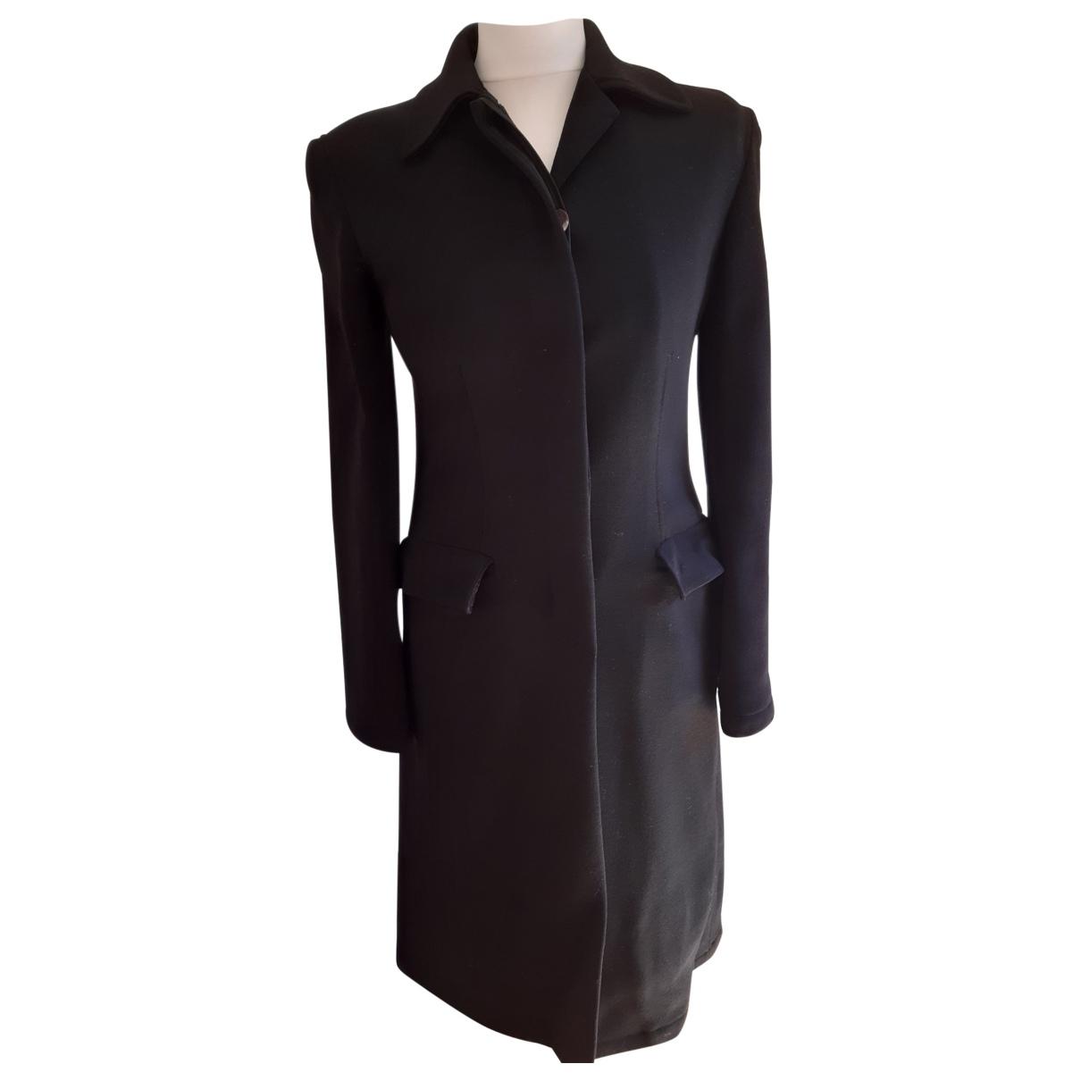 Trussardi \N Black Wool coat for Women 40 IT