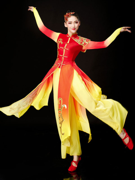 Milanoo Women Chinese Costumes Traditional Dance Costume Carnival Holidays Costumes