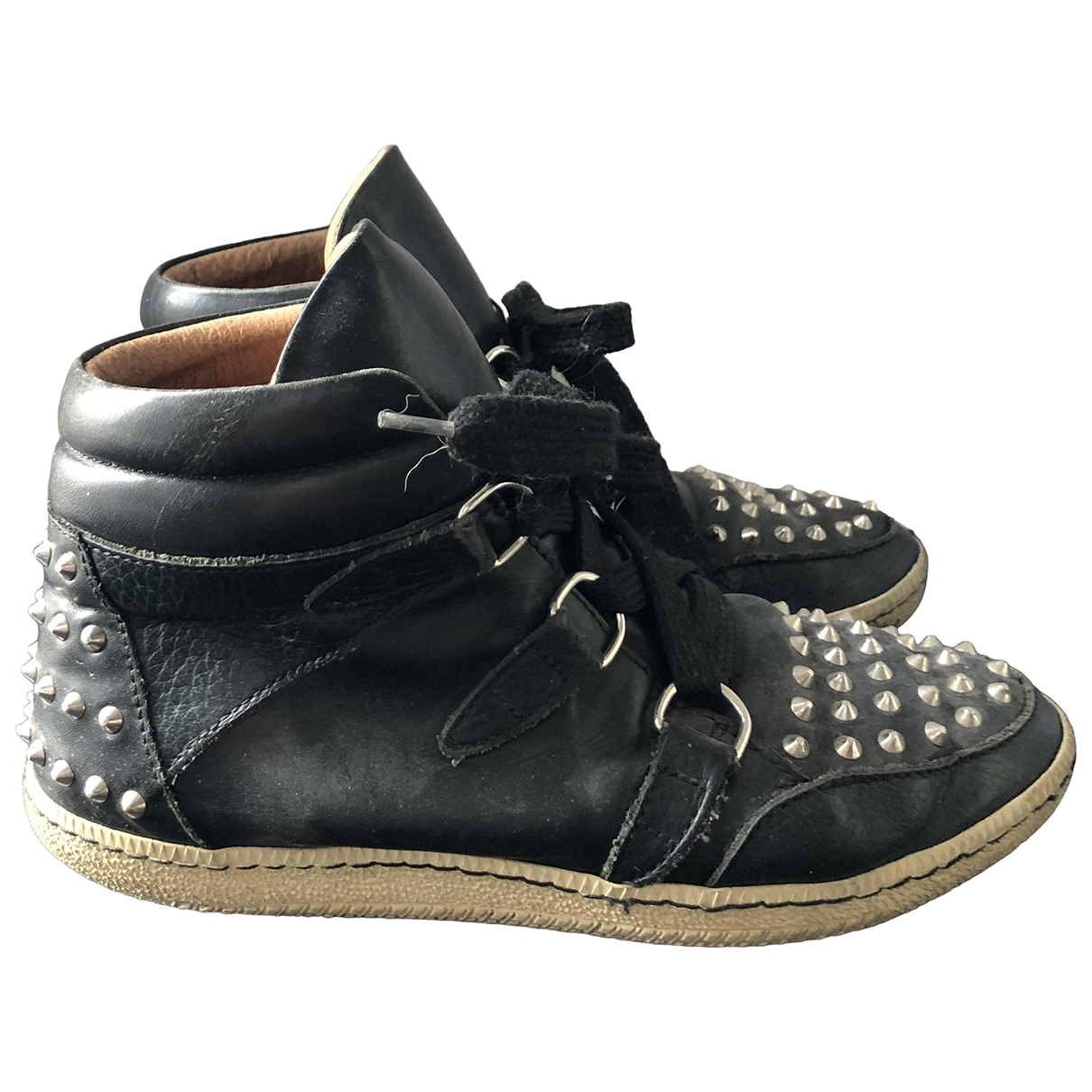 Sandro \N Black Leather Trainers for Women 38 EU