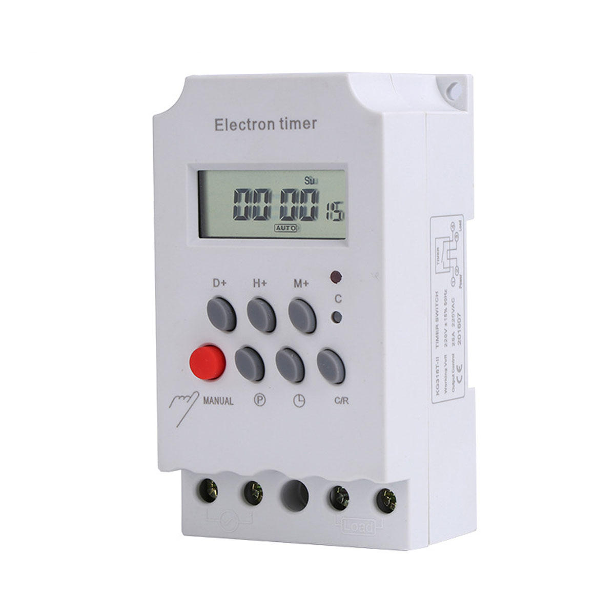 KG316T-II AC 220V 25A Digital LCD Weekly Programmable Timer Electric Relay Time Switch