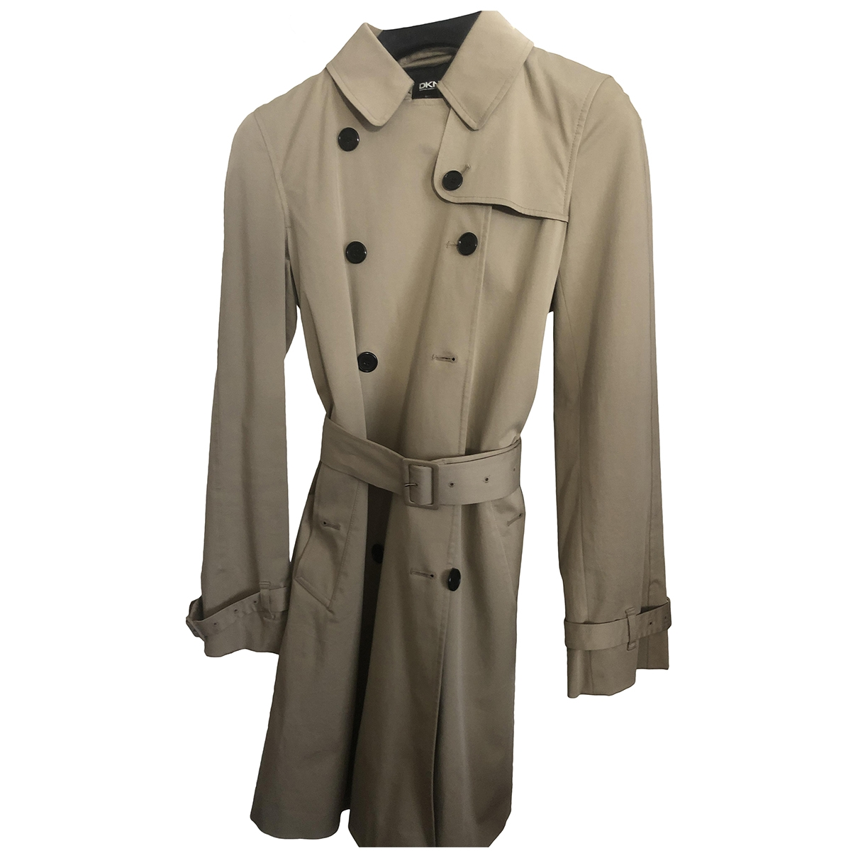 Dkny \N Camel Cotton Trench coat for Women 40 IT