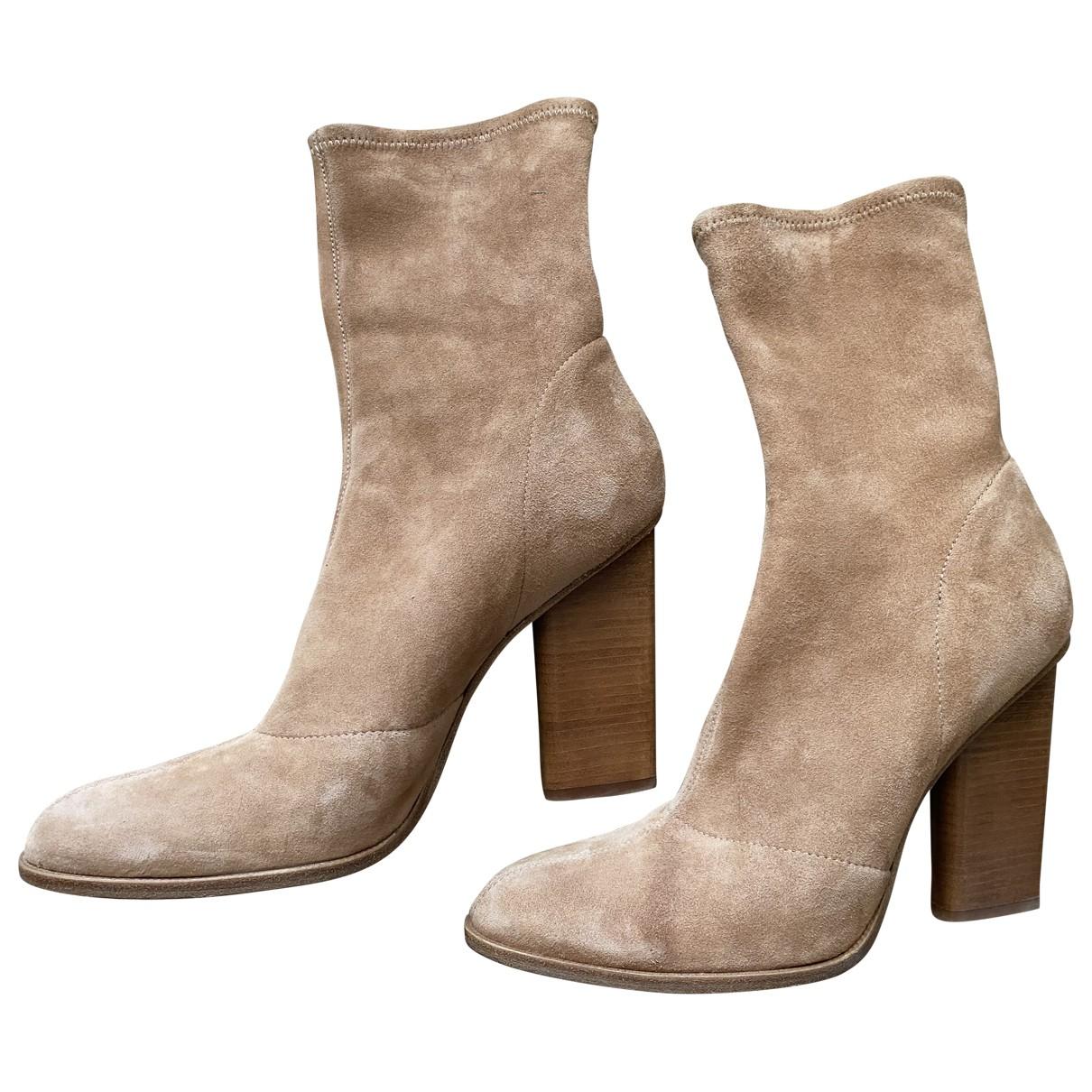 Alexander Wang \N Beige Suede Ankle boots for Women 38 EU