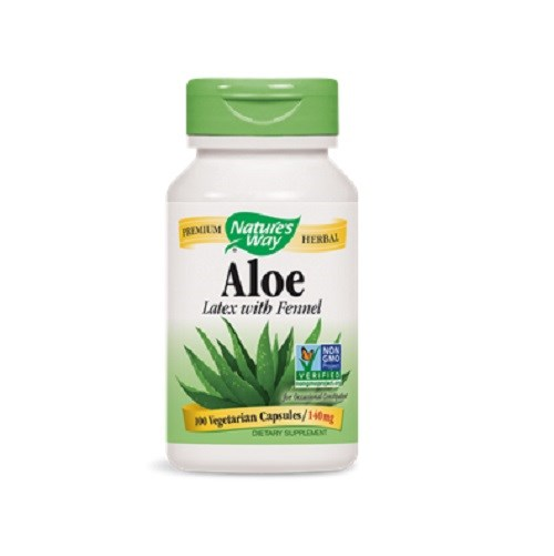 Aloe Vera Latex with fennel, 100 Veg caps by Nature's Way